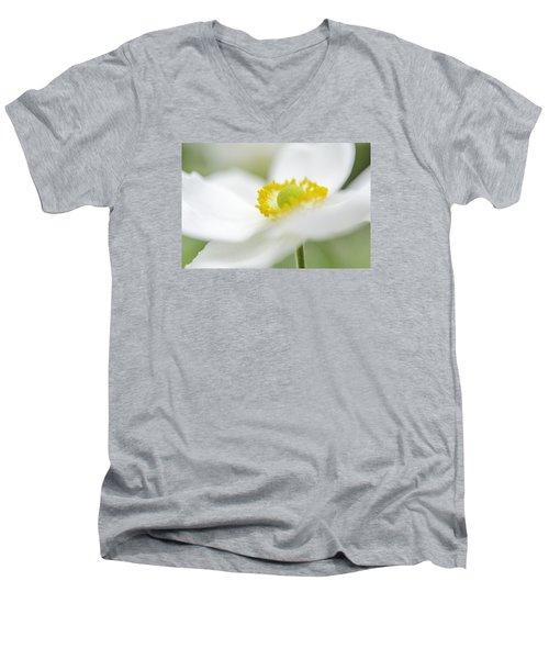 Japanese Anemone Men's V-Neck T-Shirt by Mary Angelini