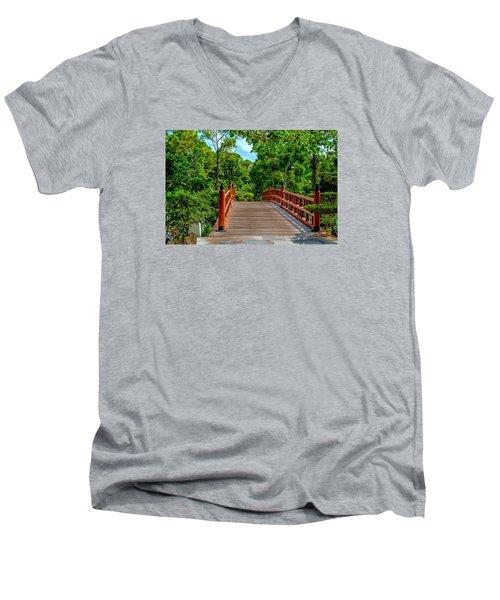 Japanese Bridge  Men's V-Neck T-Shirt