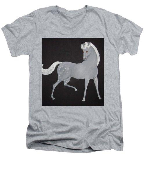 Japanese Horse 2 Men's V-Neck T-Shirt by Stephanie Moore
