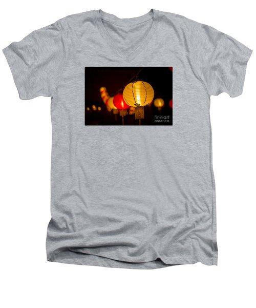 Japanese Lanterns 3 Men's V-Neck T-Shirt