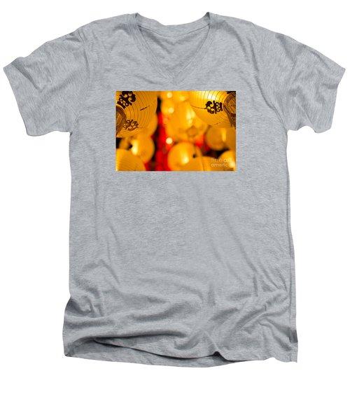 Japanese Lanterns 8 Men's V-Neck T-Shirt