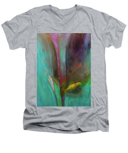 Japanese Longstem  Men's V-Neck T-Shirt by Iconic Images Art Gallery David Pucciarelli