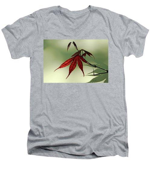 Japanese Maple Leaf Men's V-Neck T-Shirt