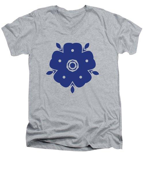 Japanese Samurai Flower Men's V-Neck T-Shirt