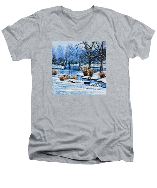 Japanese Winter Men's V-Neck T-Shirt