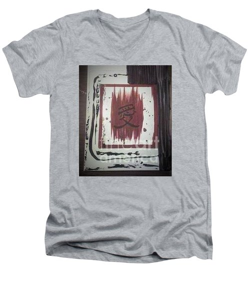 Japaness Love Men's V-Neck T-Shirt by Talisa Hartley