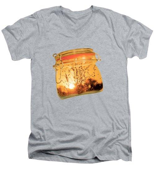 Jar Full Of Sunshine Men's V-Neck T-Shirt