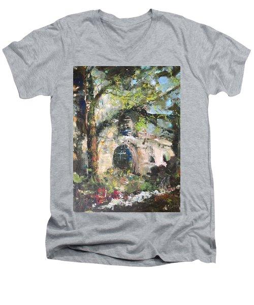 Jardin D'au Paradis  Men's V-Neck T-Shirt