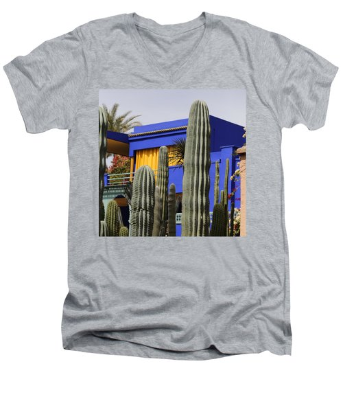 Men's V-Neck T-Shirt featuring the photograph Jardin Majorelle 5 by Andrew Fare