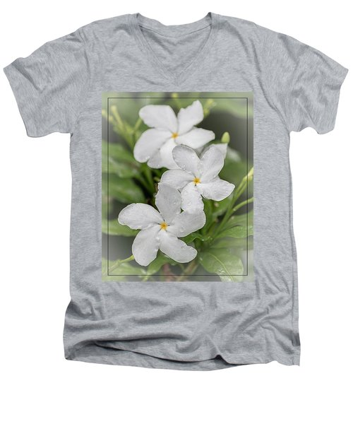 Jasmine In The Rain Men's V-Neck T-Shirt