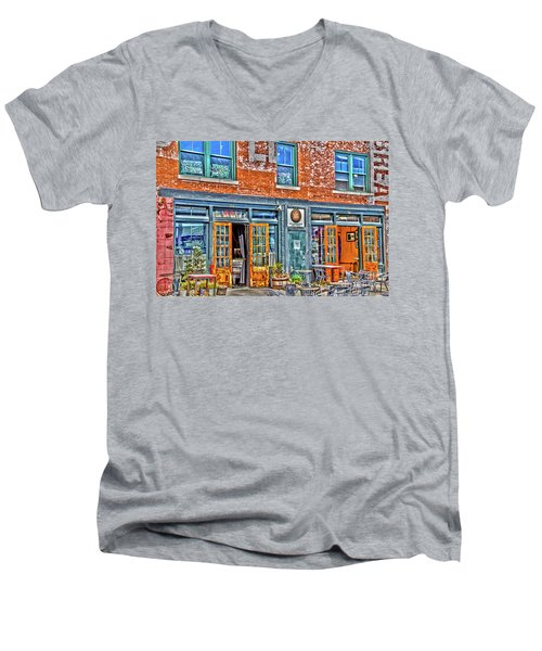 Java House Men's V-Neck T-Shirt