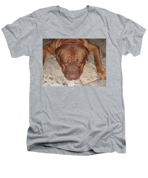 JAX Men's V-Neck T-Shirt by Val Oconnor