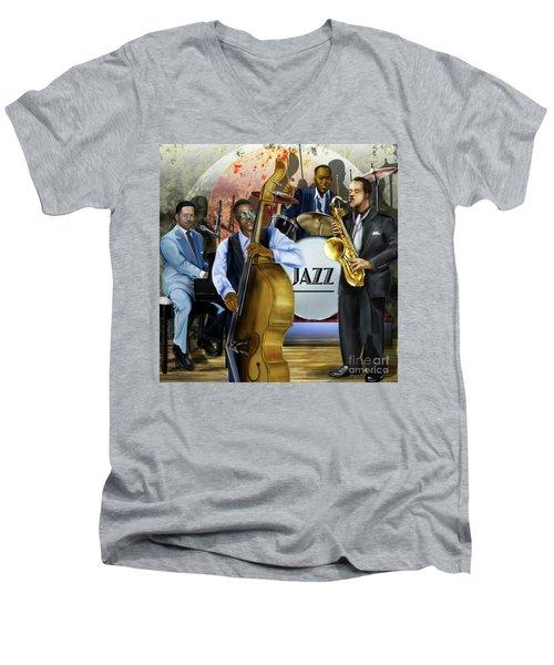 Jazz Jazz Jazz Men's V-Neck T-Shirt
