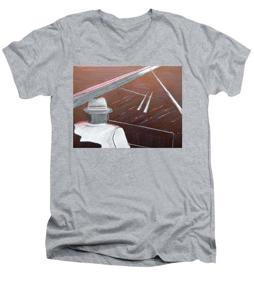 Jazz Pianist At The Brigantine Room Men's V-Neck T-Shirt