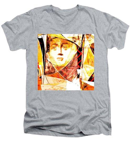 Je Aimerais Vivre Avec Vous Men's V-Neck T-Shirt by Danica Radman