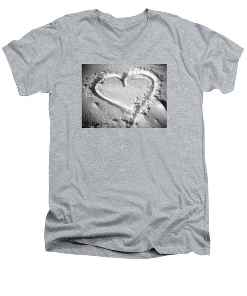 Winter Heart Men's V-Neck T-Shirt by Juergen Weiss