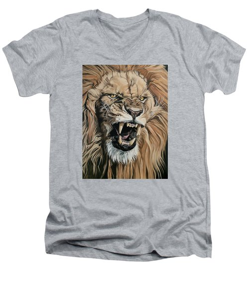 Jealous Roar Men's V-Neck T-Shirt by Nathan Rhoads