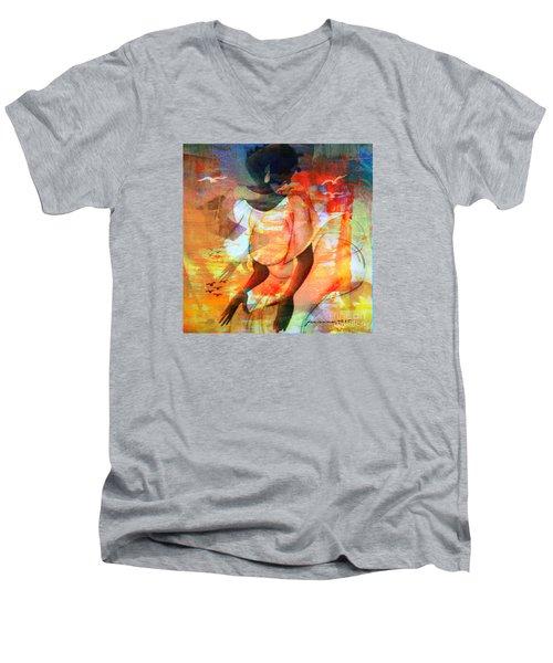 Jeanine Men's V-Neck T-Shirt by Fania Simon