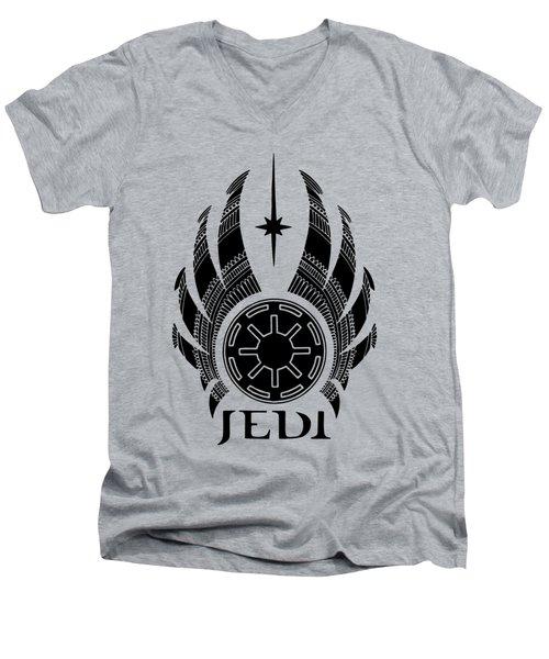 Jedi Symbol - Star Wars Art, Teal Men's V-Neck T-Shirt