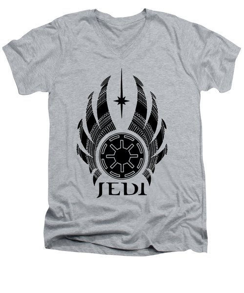 Jedi Symbol - Star Wars Art, Teal Men's V-Neck T-Shirt