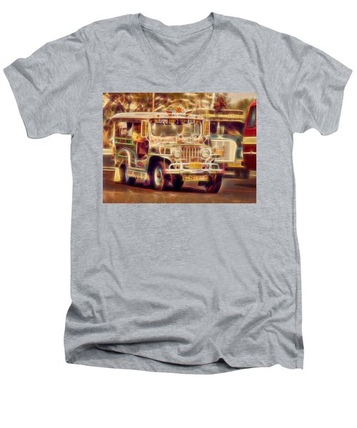 Jeepney Manila Men's V-Neck T-Shirt