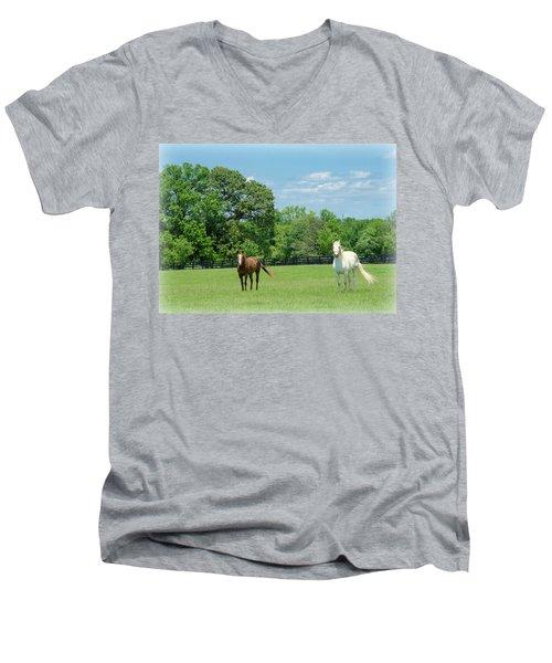 Jefferson Landing Series No. 3 Men's V-Neck T-Shirt