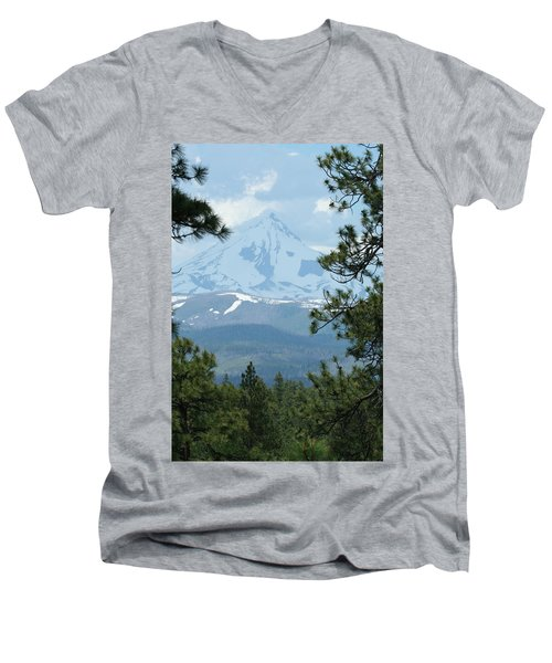 Men's V-Neck T-Shirt featuring the photograph Jefferson Pines by Laddie Halupa