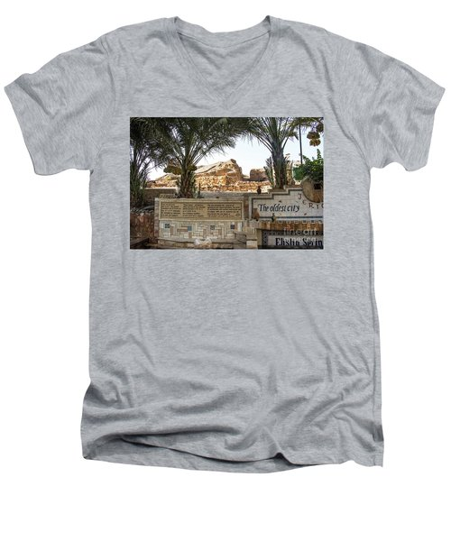 Men's V-Neck T-Shirt featuring the photograph Jerico by Mae Wertz