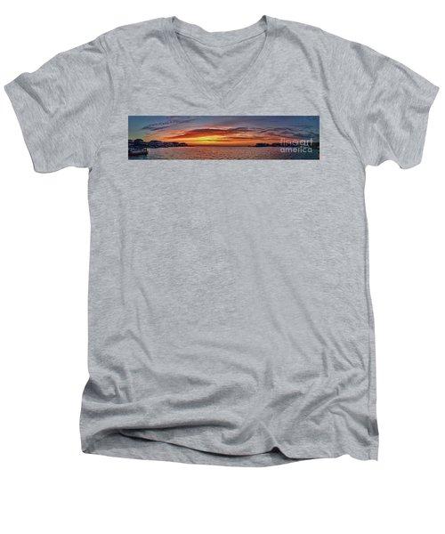 Jersey Shore Panorama Ship Bottom Men's V-Neck T-Shirt