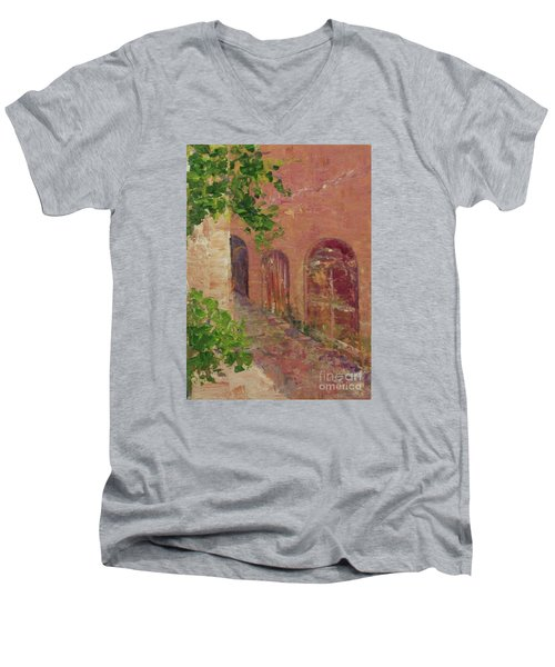 Jerusalem Alleyway Men's V-Neck T-Shirt by Gail Kent