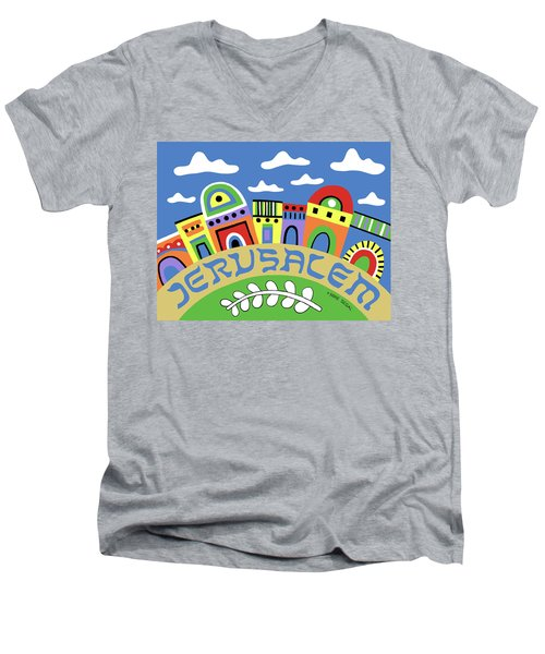 Jerusalem Men's V-Neck T-Shirt
