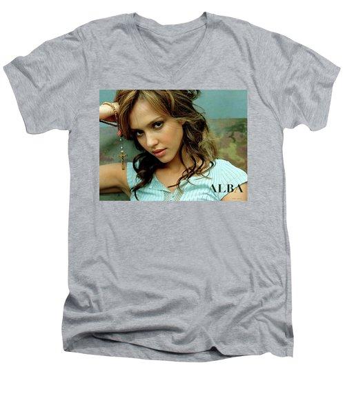 Jessica Alaba Men's V-Neck T-Shirt