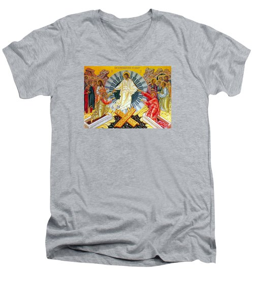 Jesus Bliss Men's V-Neck T-Shirt by Munir Alawi