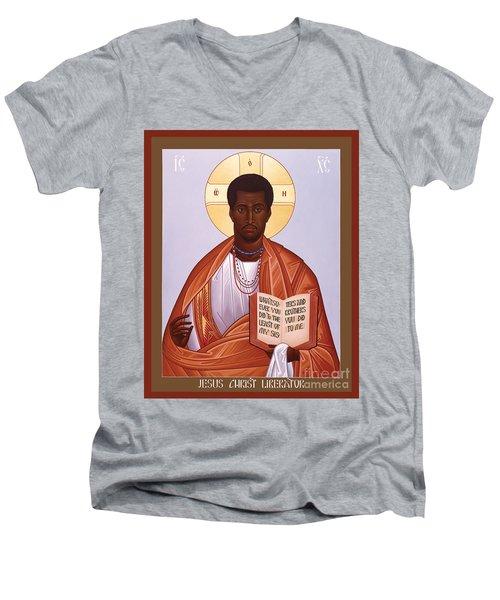 Jesus Christ - Liberator - Rljcl Men's V-Neck T-Shirt