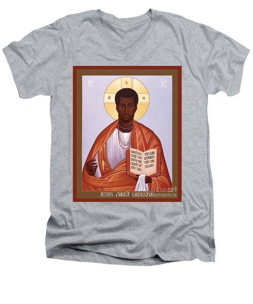 Jesus Christ - Liberator - Rljcl Men's V-Neck T-Shirt