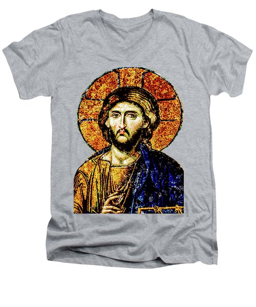 Jesus Christ, Pantocreator Men's V-Neck T-Shirt