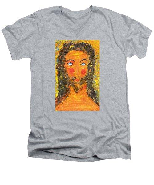 Jesus. Summer. Men's V-Neck T-Shirt