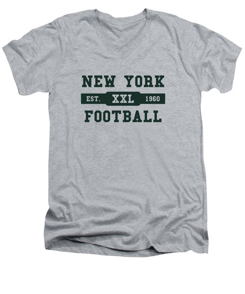 Jets Retro Shirt Men's V-Neck T-Shirt by Joe Hamilton