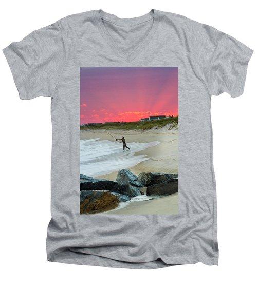 Jetty Four Fisherman Men's V-Neck T-Shirt