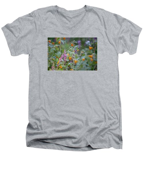 Jewel Weed With Dew Diamonds Men's V-Neck T-Shirt