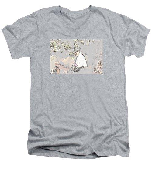 Jidai Matsuri Xx Men's V-Neck T-Shirt by Cassandra Buckley