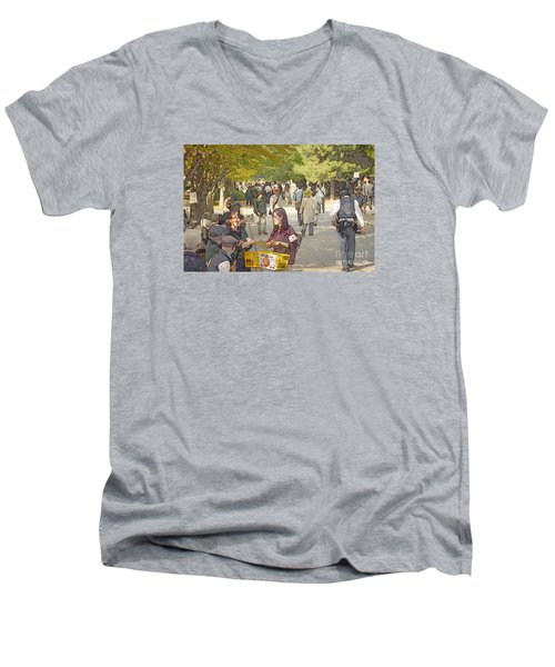 Jidai Matsuri Xxi Men's V-Neck T-Shirt by Cassandra Buckley