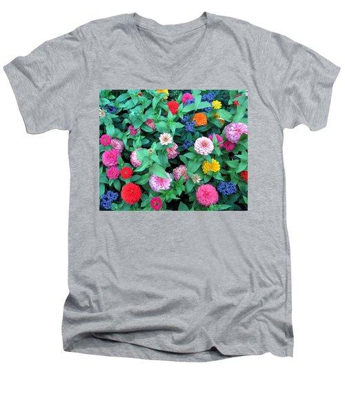 Jigsaw Puzzle? Men's V-Neck T-Shirt by Betty Buller Whitehead