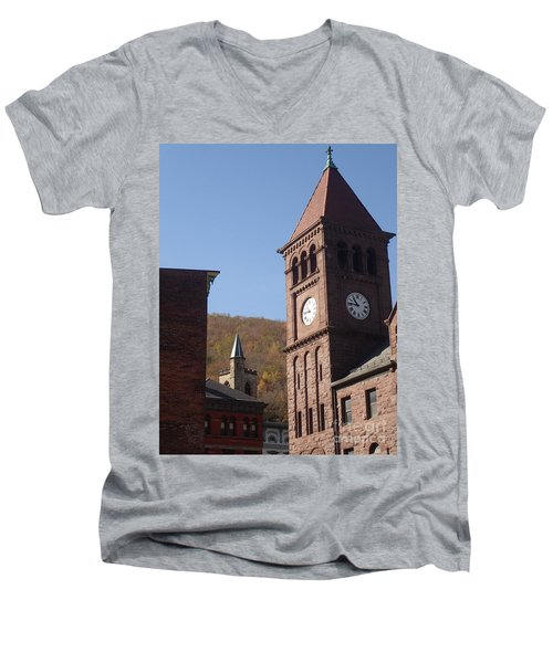 Jim Thorpe Rooftops Men's V-Neck T-Shirt