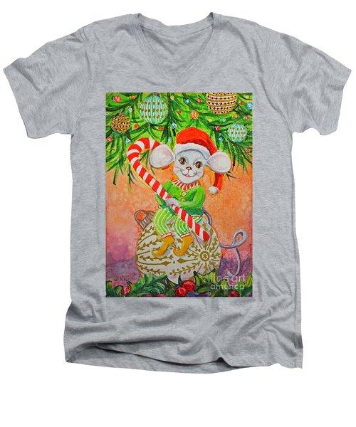 Jingle Mouse Men's V-Neck T-Shirt
