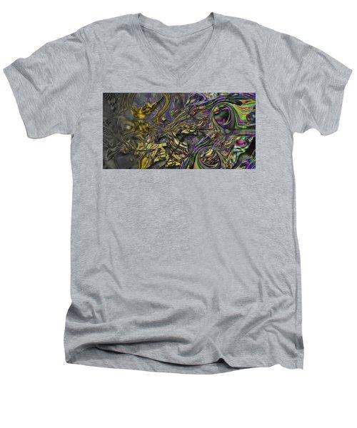 Men's V-Neck T-Shirt featuring the digital art Jingle Pete by Steve Sperry