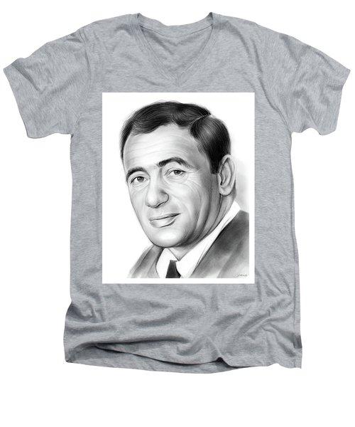 Joey Bishop Men's V-Neck T-Shirt by Greg Joens