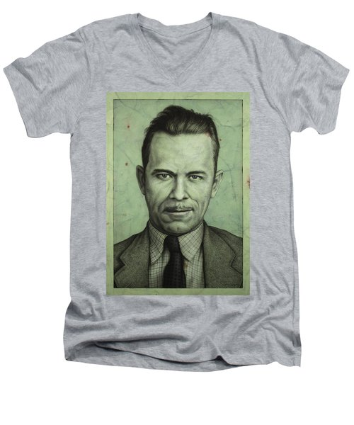 John Dillinger Men's V-Neck T-Shirt