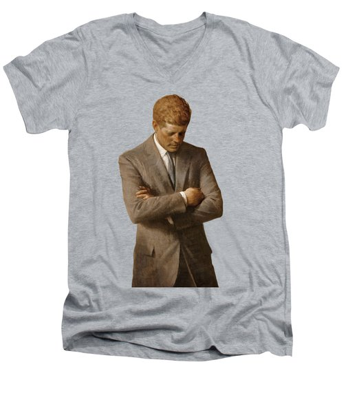 John F Kennedy Men's V-Neck T-Shirt
