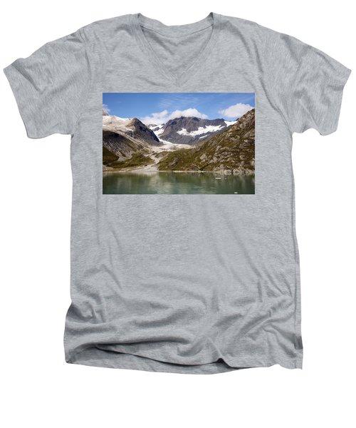 John Hopkins Glacier 5 Men's V-Neck T-Shirt by Richard J Cassato